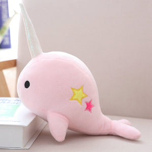 Narwhal Whale with Horn Stuffed Soft Plush Toy Dolls