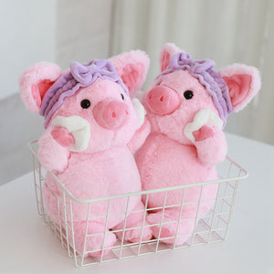 Lovely Pink Pig Cosmetic Plush Stuffed Doll Soulder Bag Gifts