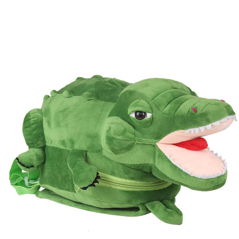 Cartoon Crocodile Plush Backpacks Gift For Children