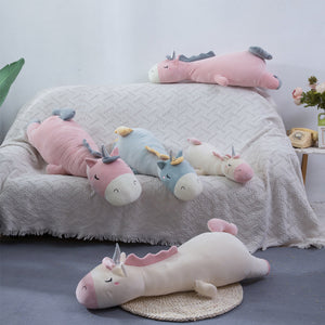 Giant Sleeping Unicorn Lying Oversized Stuffed Plush Doll Pillow