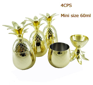 Mini Pineapple Stainless Steel 60 ml Tumbler Mug Set