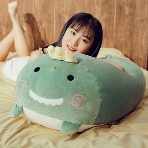 Cute Fatty Dinosaur Hamster Plush Pillow Soft Stuffed Doll