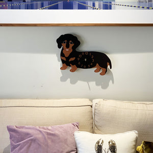 Cute Dachshund Weiner Dog Arcylic Modern Wall Clock