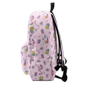 Blue Leopard Water Resistant Backpack School Bag