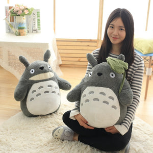 Anime My Neighbor Totoro Plush Toys Stuffed Doll with Lotus Leaf