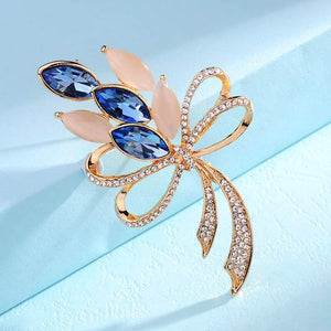 Classic Bright Opal Shining Crystal Pin Brooches