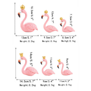 Resin Flamingos Figurine Crafts Statue Decoration