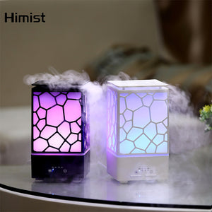 Color Changing Water Cube Oil Diffuser Mist Maker LED Light Humidifier