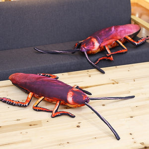 Simulation Cockroach Insect Plush Pillow Stuffed Toy Doll Funny Gift