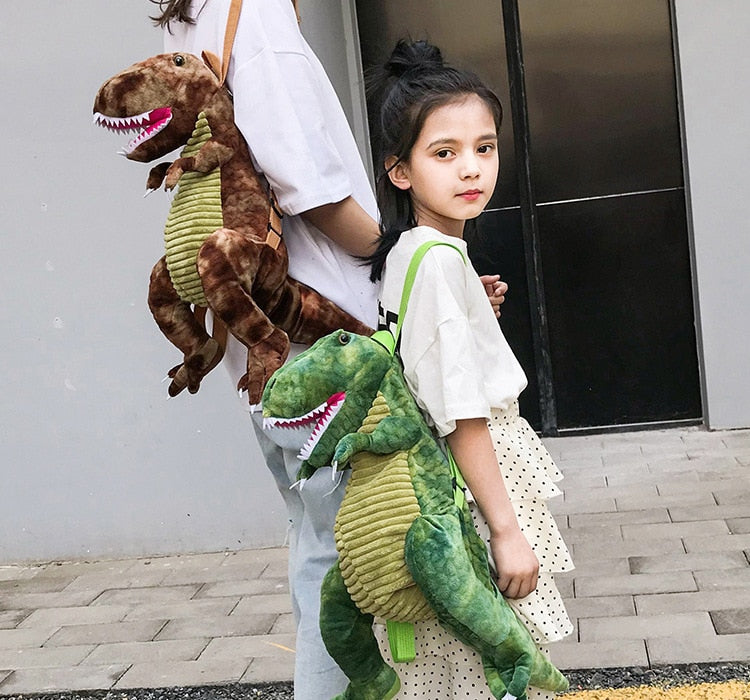 Cartoon 3D Dinosaurs Plush Backpack Bag for Children Kids Gifts