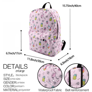 Sleeping Sheep Llama Water Resistant Backpack School Bag