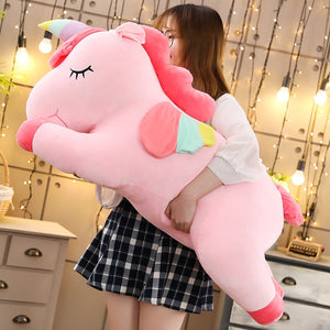 Giant Fatty Unicorn Horse  Plush Toy Soft Stuffed Dolls Pillow Birthday Gifts