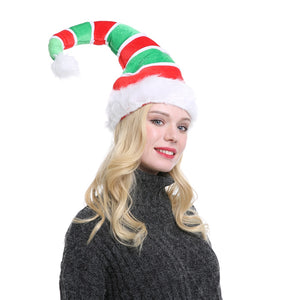 Funny Party Christmas Elf Santa Plush Hat Props