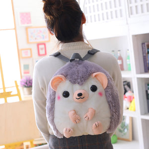 Cute Hedgehog Plush Stuffed Cartoon Backpacks for Kids