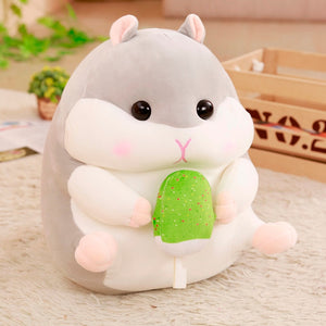 Cute Little Rodentia Hamster Soft Stuffed Plush Pillow Cushion Doll Gift