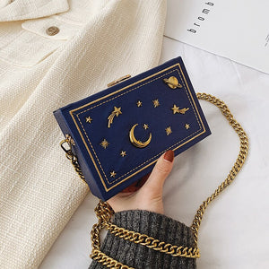 Galaxy Star Design Leather Clutch Handbag Shoulder Bag