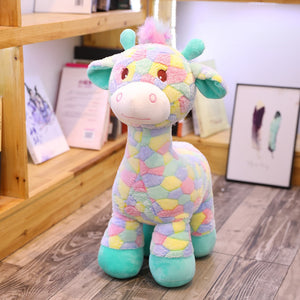 Cute Colorful Giraffe Deer Soft Plush Stuffed Dolls