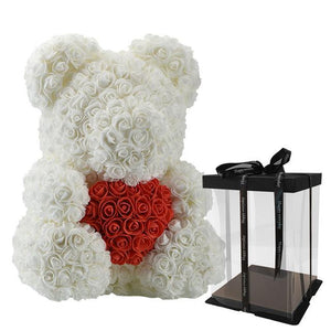 Dolls - Rose Bear Artificial Flowers Doll Wedding Gift