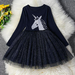 Dresses - New Year Clothes Christmas Party Long Sleeve Xmas Dress For Girls