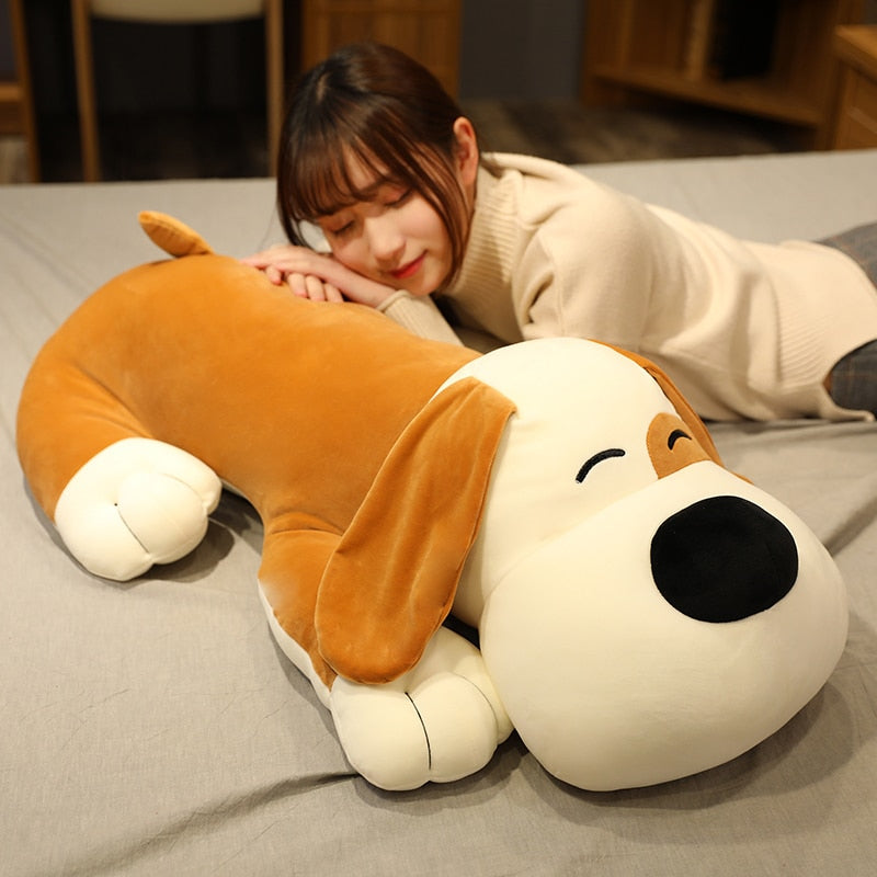 Happy Puppy Dog Big Ears Large Size Plush Pillow Toy Doll