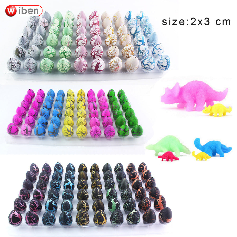 60 Pcs Magic Hatching Growing Dinosaur Eggs Educational Toys