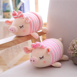 Cute Pink Pig Bowknot Plush Soft Stuffed Toy Gift