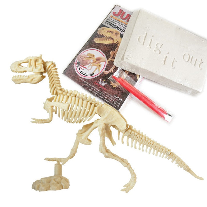 Dinosaur Skeleton Fossil Model Figures Educational Toy