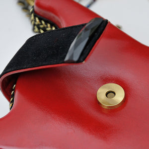 Vintage Guitar sHAPE Women Leather Shoulder Bag