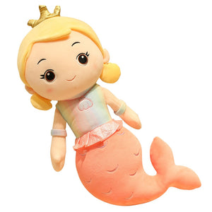 Cute Cartoon Princess Mermaid Girl Soft Plush Stuffed Pillow Doll Birthday Gift