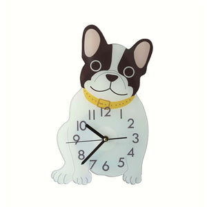 Lovely French Bulldog Children's Room Wall Clock