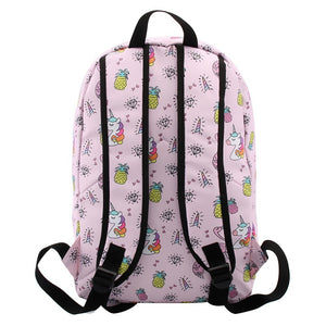 Lovely Pug Dog Water Resistant Backpack School Bag