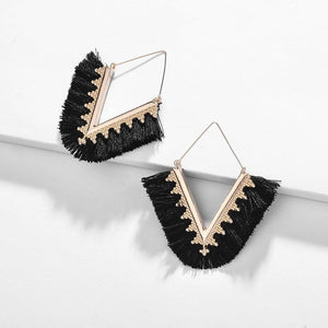 Bohemia Triangle Tassel Earrings