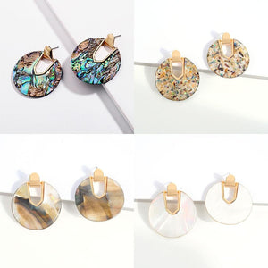 Colorful Resin Acrylic U Shape Drop Dangle Earrings