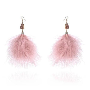 Vintage Boho Dreamcatcher Long Feather Tassel Drop Earrings