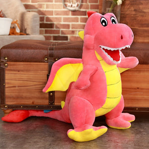 Baby Dragon Red Tail Large Plush Stuffed Pillow Doll