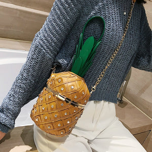 Pineapple Leather Purse Handbags Shoulder Bag