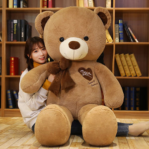 Lovely Giant Teddy Bear With Bow Tie Plush Toys Doll Birthday Gift