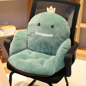 Cute Cartoon Lumbar Back Support Seat Pad Chair Cushion Pillow