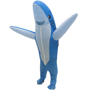 Inflatable Blue Shark Blow Up Cosplay Costumes