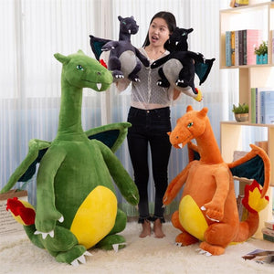 Giant Charizard Pokemon Fire Dragon Soft Plush Stuffed Doll