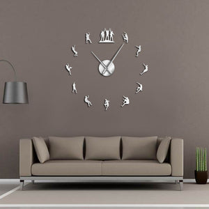 Climbers Large Frameless DIY Wall Clock Climbing Lovers Gift