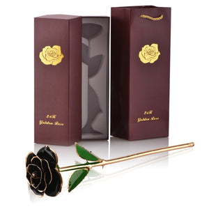 Eternal Forever Rose Flower 24k Gold Dipped with Stand