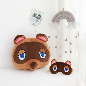 Cute Raccoon Tom Nook Animal Crossing Cosplay Plush Pillow Gifts