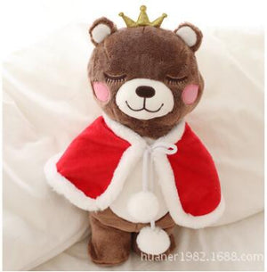 Cute Princess Crown Bear Plush Stuffed Doll