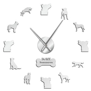 Beauceron Beauce Shepherd Large Frameless DIY Wall Clock