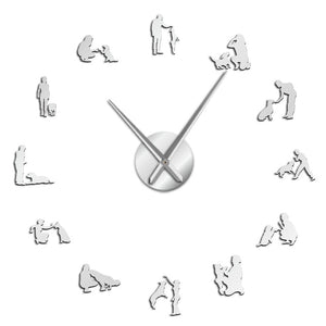 Dogs Training Large Frameless DIY Wall Clock Dog Trainer Gift