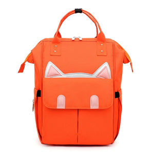 Cute Cat Ears Large Capacity Anti Theft Oxford Backpack