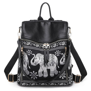 Beautiful Elephant Thai Style Backpack Shoulder Bag