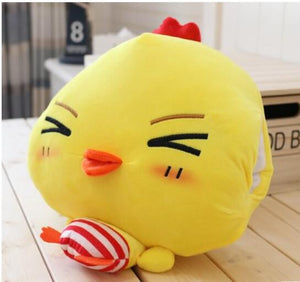 Funny Stripe Pants Yellow Chicken Soft Hand Warm Cushion Blanket