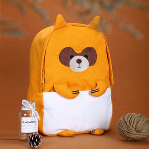 Cute Animal Friend Oxford Canvas Backpack School Bag for Girls